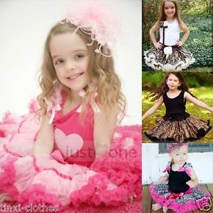 Baby Children Kids Girls Chiffon Tutu Dance Wear Full Pettiskirt Princess Skirt