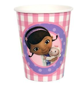 8 Disney Doc McStuffins Paper Cups 9 oz Birthday Party Supplies Tableware