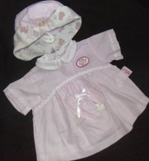 Baby Annabell Beautiful Dress Hat Outfit Zapf Doll Clothes
