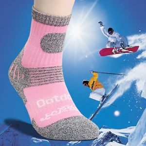 Extreme Winter Cold Withstand Womens Heating Warm Cushioned Sport Socks 2 Pairs