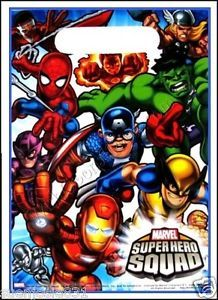 Marvel Super Hero Squad Birthday Treat Loot Bags Party Favors Supplies