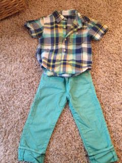 Baby Gap Easter Toddler Boys Shirt Jeans 2T EEUC