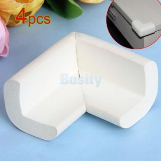 4X Beige Baby Kid Safety Desk Shelf Edge Protector Table Corner Cushion Guard
