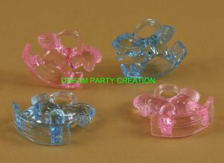 Mini Acrylic Rocking Horse Baby Shower Favor Choose Color Combination