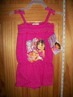 New Dora The Explorer Baby Clothes 24M Infant Girl Romper Pink Jumper Shorts