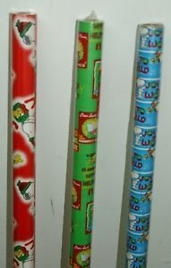 "1 Peanuts®christmas Gift Wrap 20 Sq ft 30""x96"" Rolls Buy 2 Rolls 3rd 1 Free"