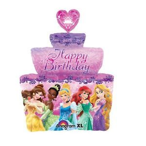 Disney Princess Birthday Cake Foil Jumbo Balloon Cinderella Belle Party Supplies