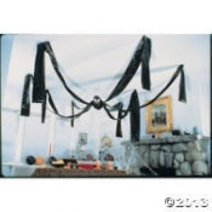 Halloween Large Huge Hanging Black Spider Haunted House Party Decoration