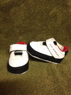 Nike Air Jordan AJF 9 Infant Baby Boys Black Red White Crib Shoes Size 1 C