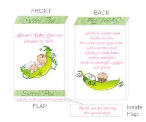 Pea Pod Baby Sweet Pea Baby Shower Pacifier Candy Favor