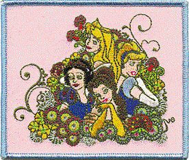 Disney Princesses Snow White Cinderella Aurora Patch
