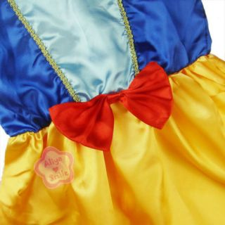 Girl Short Sleeve Princess Snow White Party Costume Dress Kid Clothing Sz 2 7