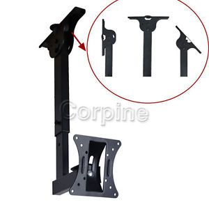 "Tilt Swivel Wall Ceiling Mount LCD LED Flat TV Monitor 17 19 20 22 23 24 27"" M1A"