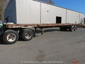 Trailmobile Pullman P31T OS 40' Flatbed Trailer Semi Truck Fifth Wheel