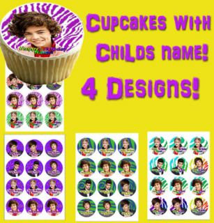 Cupcake Toppers One Direction Edible Picture for 1D Photo Sugar Decoration Tops