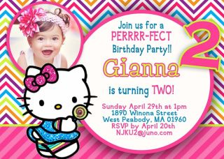 Hello Kitty Birthday Party Invitation You Print