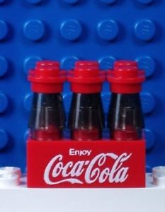 A126 Lego Custom Printed Coke Coca Cola 6 Pack Bottles Minifig Food Beverage