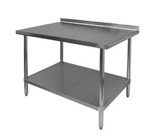 New Commercial Stainless Steel Work Food Prep Table 30 x 72 1 1 2 Backsplash
