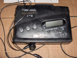 Panasonic Personal Cassette Player Am FM Radio with Earbuds Back Clip Model RQ V