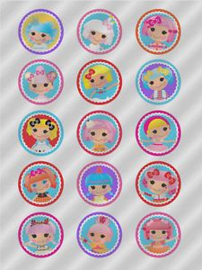 N345 Edible Image Birthday Decoration Cake Cookie Cupcake Toppers Lalaloopsy