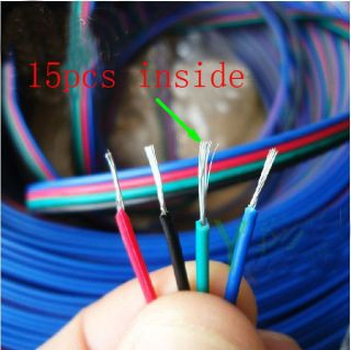 Wholesale 4 Pin 22AWG Extension Cable Wire RGB Connector for LED 3528 5050 Strip