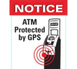 ATM Machine GPS Warning Decal Sticker