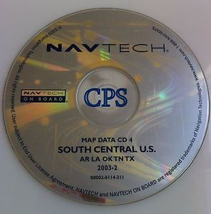 BMW Rover GPS Navigation Map CD Disc 4 South Central U s TX OK Software Disk