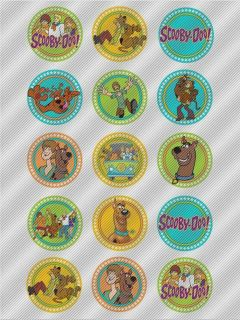 N463 Edible Image Birthday Decoration Cake Cookie Cupcake Toppers Scooby Doo