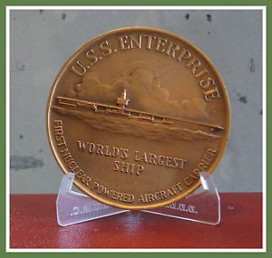 USS Enterprise Navy Christening Medallic Art Medal Commemorating Launch 1960