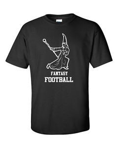 Fantasy Football Fairy Draft Beer Sports Wizard Funny Men's Tee Shirt