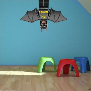 Full Colour Lego Batman Wall Sticker Mural Decal Graphic Boys Bedroom Superhero