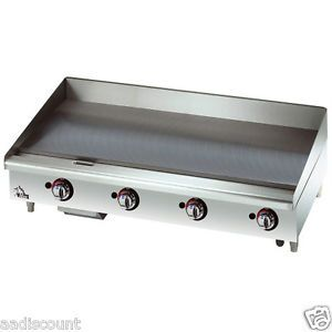 "New Star Max 36"" Griddle Grill 3 Manual Controls LP NG Gas 636MF 1"" Plate"
