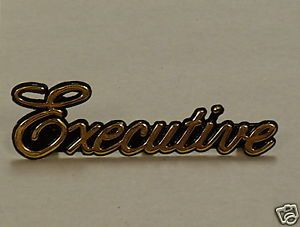 New Gold Vogue Lincoln Town Car Executive Emblem Trim