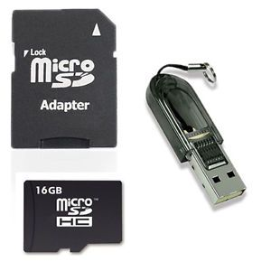 New 16GB TF TransFlash Micro SD Card Adapter Reader TF Memory Cards