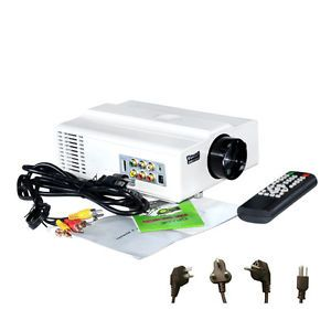 V06W LCD Home Theater Projector Input Support 1080i 1080p HDMI HD TV PS3 DVD LED
