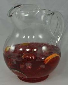 Sangria Cocktail Glass Pitcher Fruit Drink Realistic Fake Food Bar Beverage Prop