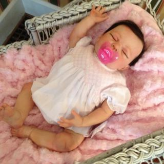Baby Rose Beautiful Reborn Baby Girl Art Doll Hand Painted 3D Skin