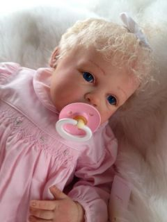 Baby Gracie Beautiful Reborn Baby Girl Art Doll Hand Painted 3D Skin