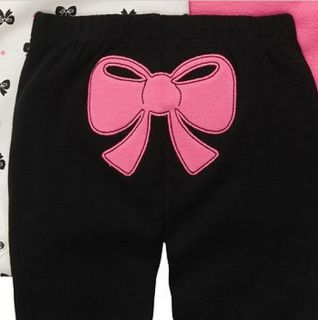 Carters Baby Girl Clothes 3 Piece Set Pink Black Bow 3 6 9 12 18 24 Months