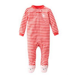 Carters Baby Girl Fall Winter Clothes Sleepwear Pajama Red Cat 3 6 9 Months