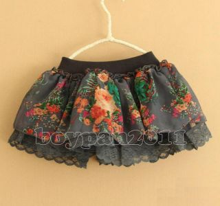 New Kids Toddlers Cotton Lace Girls Princess Flower Tutu Skirt sz2 7Years
