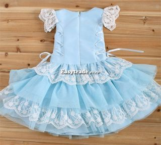 New Lovely Girls Baby Toddler Dance Ballet Tutu Performance Party Top Dress ESY1