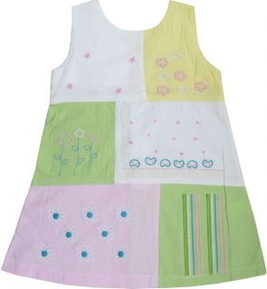 Baby Girls Vest Top Multi Color Embroidered Dress 1 2 3 4 5 New Kids Clothes