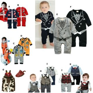 Cool Baby Boy Clothes Christmas Gift Smart Formal Tie Suit Dress Up Costume