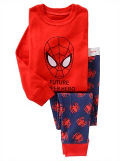 "Cute Baby Toddler Girls Clothes Kids Boys' Sleepwear ""Spider Man"" Pajamas Set 4T"