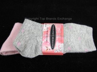Womens Chinese Laundry Cashmere Blend Socks Two Pair Black Beige Gray Pink 4 10