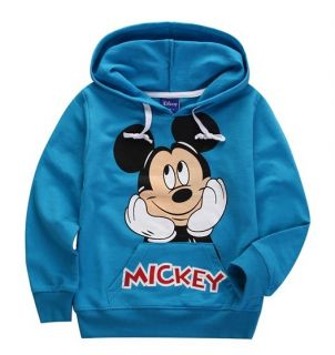 Kids Toddlers Boys Girls Mickey Mouse Long Sleeve Hoodies Coats 2 8 Years