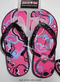 Monster High Girls 11 12 13 1 2 3 4 Sandals Flip Flops Shoes