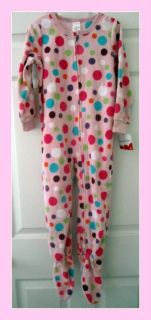 New Girls Toddler Footed Pajamas Blanket Sleeper Carters Jumping Beans