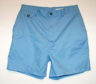 Towncraft Sz 34 Mens Light Blue Casual Shorts Elastic Waist DF56